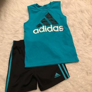 Adidas Blue Top and Short Set Size 3T